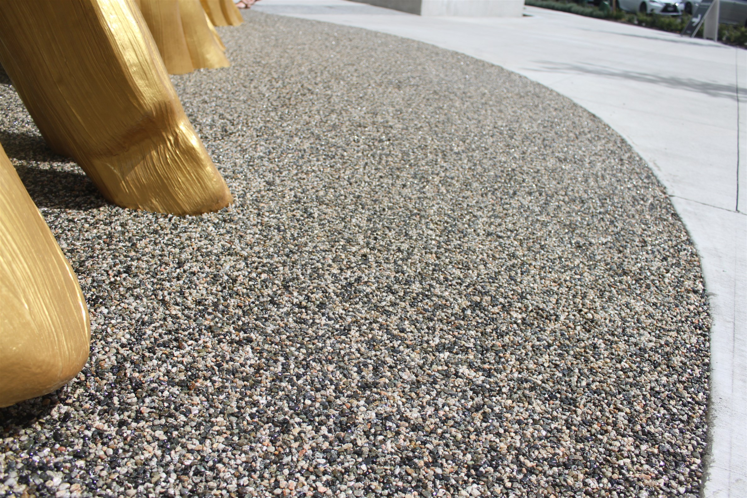 Curing Romex resin for all grit, gravel and crushed materials